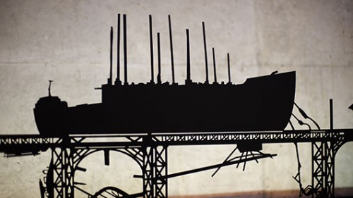 """ניר אדוני, """"ללא כותרת"""" 2010, מתכת, חיתוך לייזר, תאורת לד, 87X41 ס""""מ"""