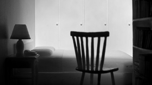 "Jonas Dahlberg""שלושה חדרים"", 2008, מיצב וידיאו תלת ערוצי, 26:58 דקות, הקרנה מחזוריתבאדיבות מוזיאון ישראל, ירושלים"