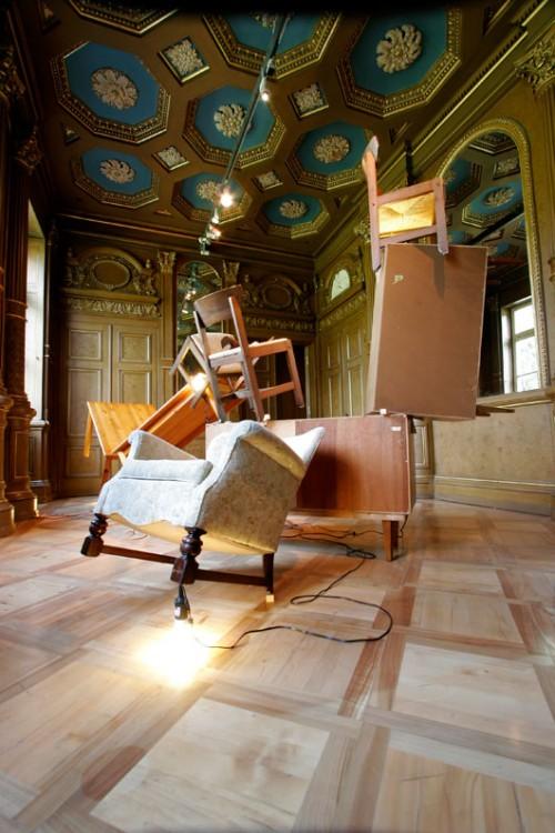 """ניר אלון""""The Physical Background of Being at Home"""", משנת 2007, המוזיאון היהודי בפרנקפורט"""