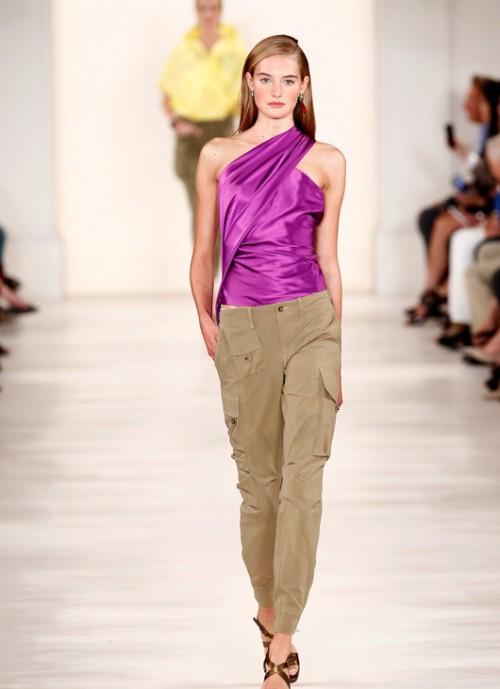 התגלתה בתחרות כשרונות צעירים כשהשתתפה כאקרובטית. סאנה ולואט, תצוגת האופנה של ראלף לורן, אביב 2015   צילום: gettyimages