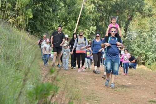 כ-15 אלף משתתפים מגיעים לצעדת הגלבוע מדי שנה | צילום: ישראל פרץ
