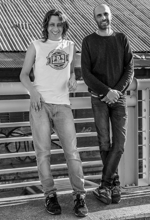 המוחות מאחורי הירידים הידועים דרס־קוד, טימרקט ומתחם העיצוב פופ־האוס. ירון דנוך וספי גולן | צילום: רוני ליבוביץ'