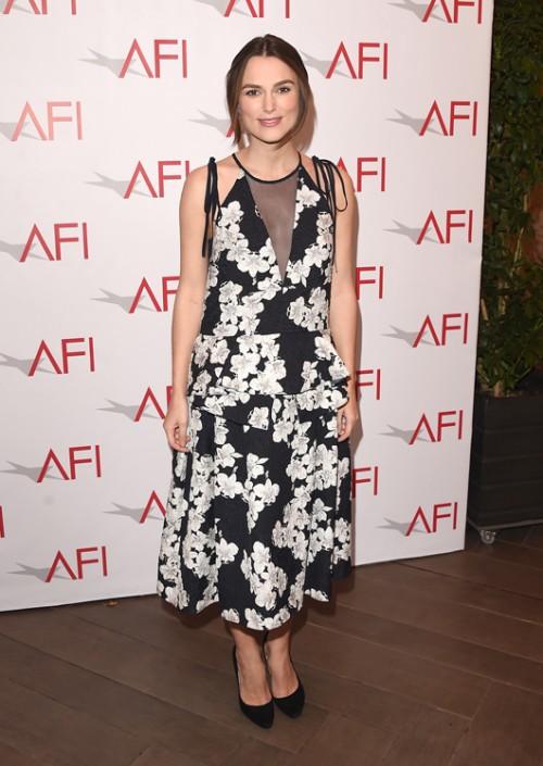 קיירה נייטלי בשמלה של ארדם, טקס פרסי AFI   צילום: GettyImages
