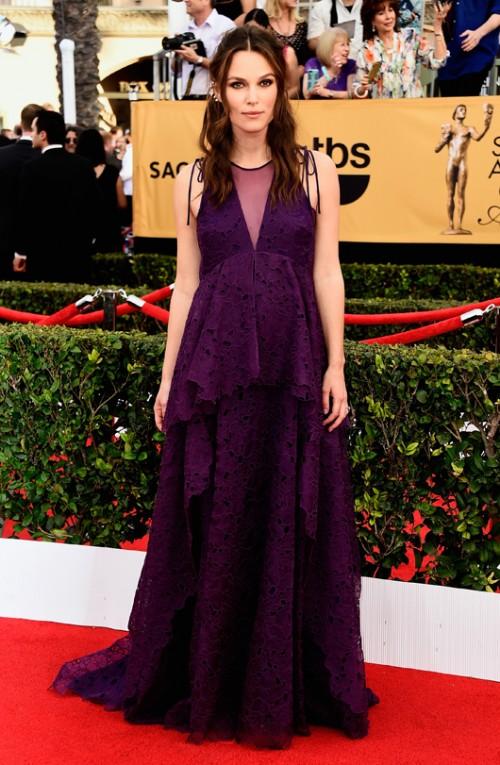 קיירה נייטלי בשמלה של ארדם, טקס פרסי גילדת השחקנים   צילום: GettyImages