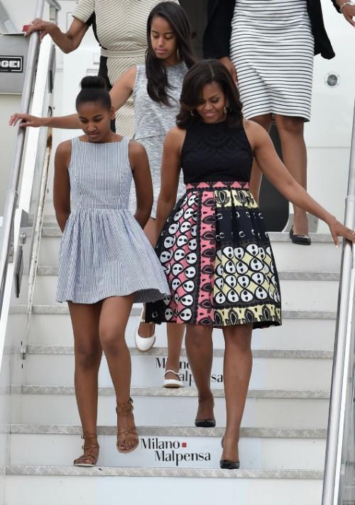 מושלמת כתמיד. מישל אובמה ב- Duro-Olowu | צילום: gettyimages