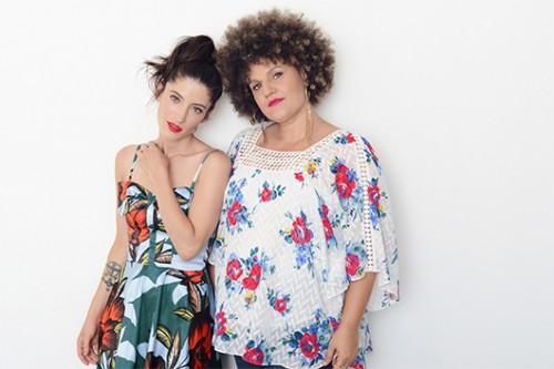 אפרת: שמלה פיו פיו, קרולינה: חולצה אוסף פרטי   צילום: דנה וקסלר