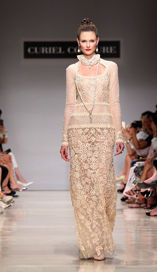 curiel couture תצוגת 2015-2016   צילום: GettyImages