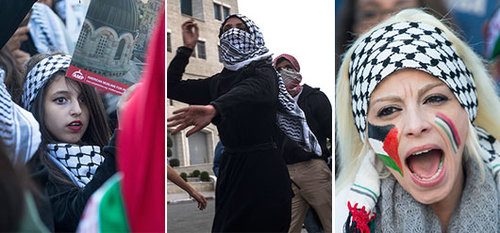 מפגינות ופעילות פלסטיניות שוברות את כללי המשחק | צילום: GettyImages
