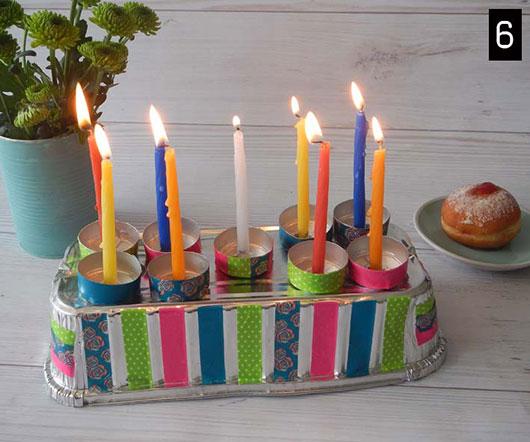 חנוכייה מתבנית עוגה | צילום: 3M וסיגידי