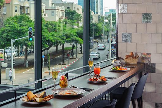 חדר האוכל במלון רוטשילד 22 בתל אביב | צילום: איה בן עזרי