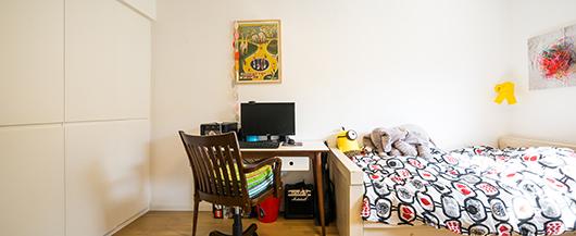 פינת עבודה בחדר הילדים | צילום: איתי סיקולסקי