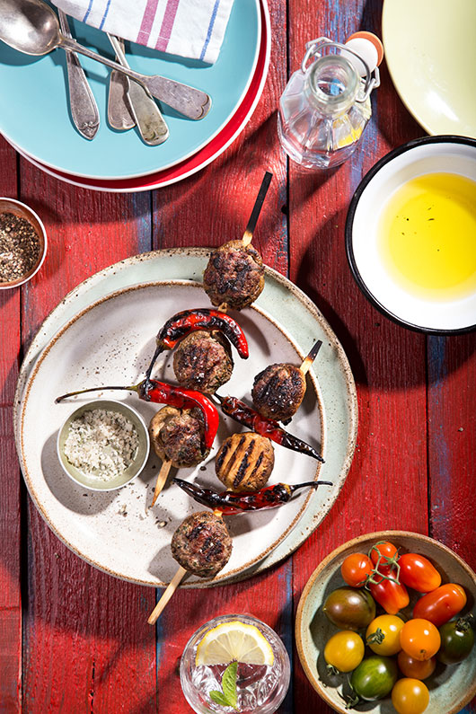 שיפודי פטריות ממולאות בבשר טלה | צילום: שרית גופן
