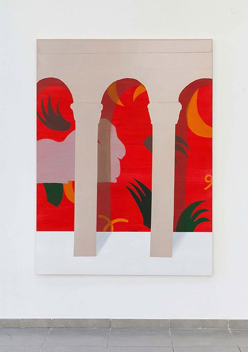 """עבודה של ארז נאבי מתוך התערוכה """"לשוחח עם משה שק"""""""