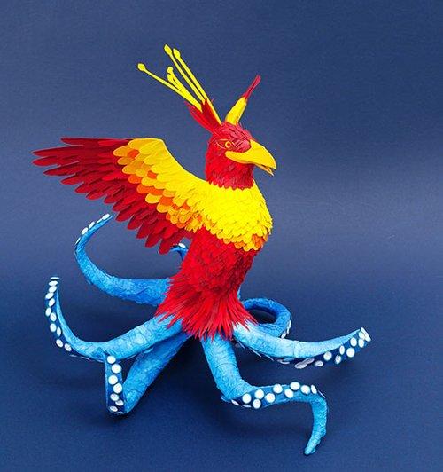 מתוך תערוכת נייר בינלאומית באוצרותו של אמן הקיפולים אילן גריבי