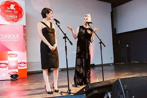 מיה דגן ודפנה לוסטיג מנחות את טקס פרסי האופנה 2016 | צילום: שי פרנקו
