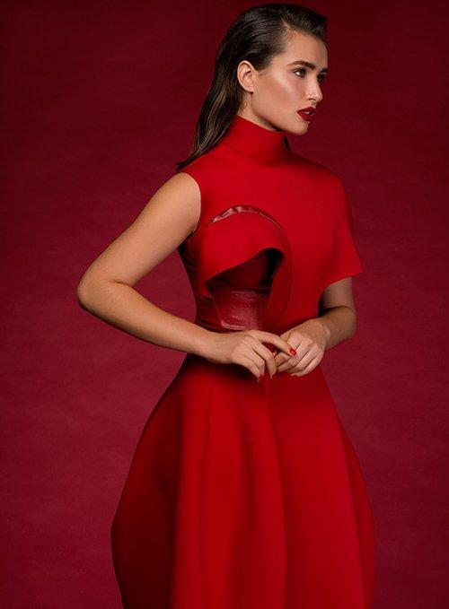 שמלה מאיה טולדנו שניידר לשנקר | צילום: עידו לביא