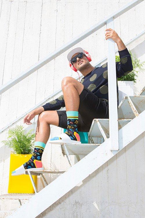 אוריאל יקותיאל הוא הגיבור המקומי שנבחר כתואם את ערכי המותג Happy Socks | צילום: תום מרשק