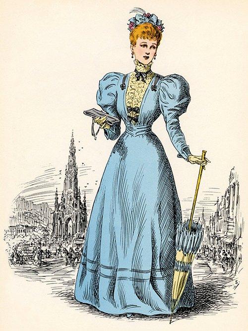כתפיים מועצמות מהתקופה הוויקטוריאנית 1894 | GettyImages