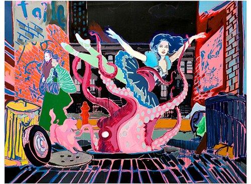 מתוך התערוכה של צמד האמנים Faile: פטריק מקניל ופטריק מילר
