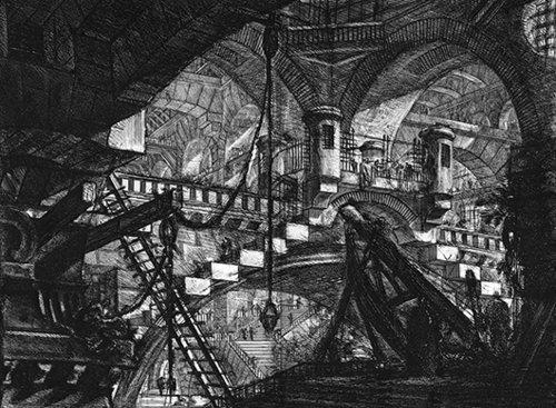 פנטזיות אדריכליות שמשלבות מוטיבים ממבנים עתיקים   ג'ובאני בטיסטה פיראנזי