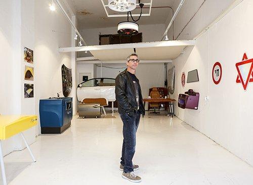 רונן וסרמן וחלל התצוגה הייחודי שלו   TinMan Gallery   צילום: אורית ארנון