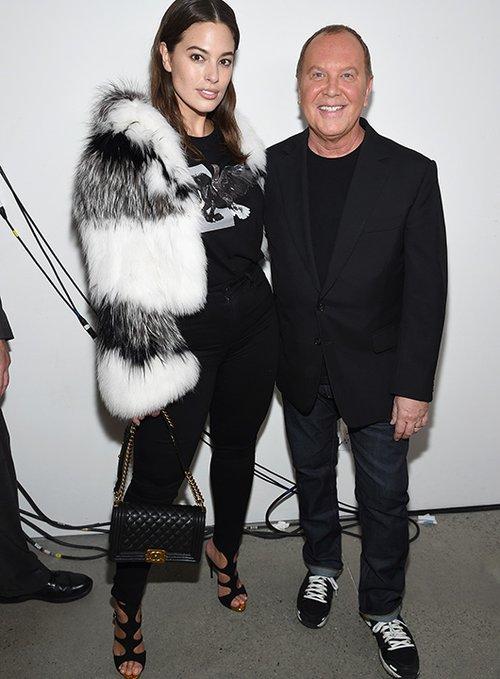 מייקל קורס ואשלי גרהאם   צילום: GettyImages