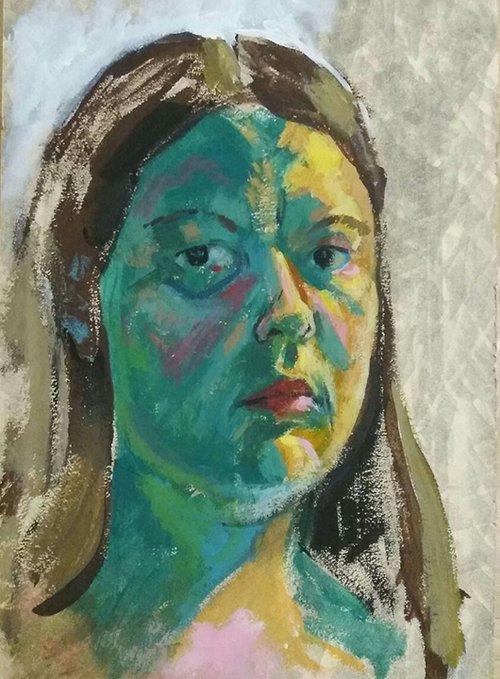 ציורים שציירה א׳. ״באמנות שלי אני מוציאה את כל מה שיש לי, לטוב ולרע״