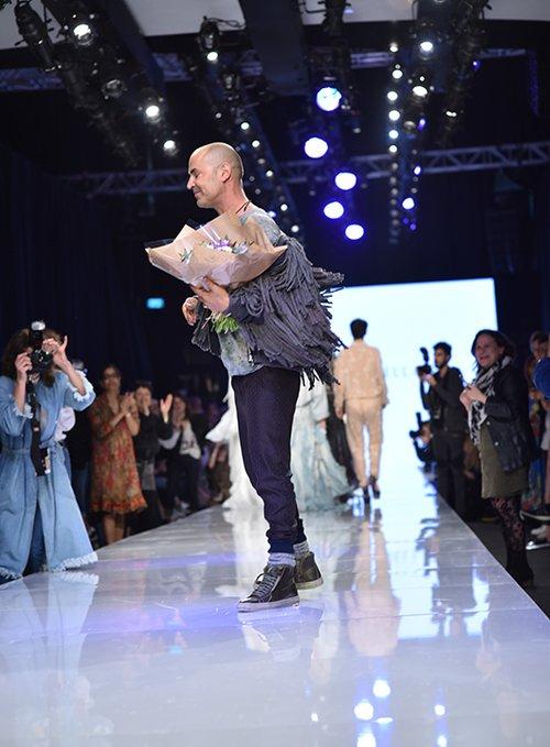 מתוך התצוגה של ויוי בלאיש בשבוע האופנה גינדי תל אביב 2017 | צילום: שי פרנקו