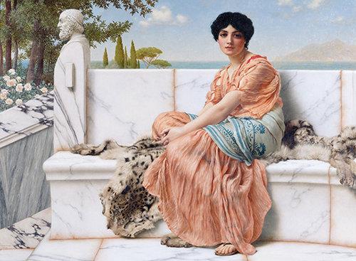 In the Days of Sappho | John William Godward