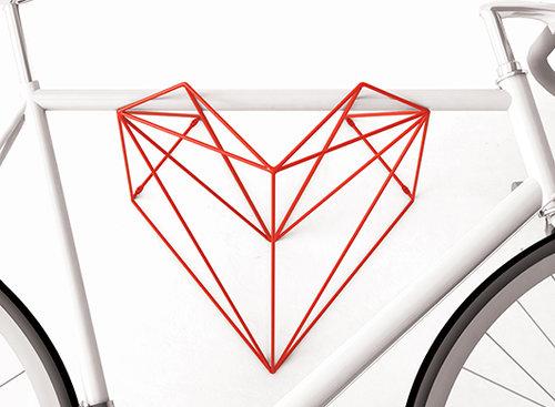 מתלה האופניים Heart, בעיצוב סטודיו Hang Bike