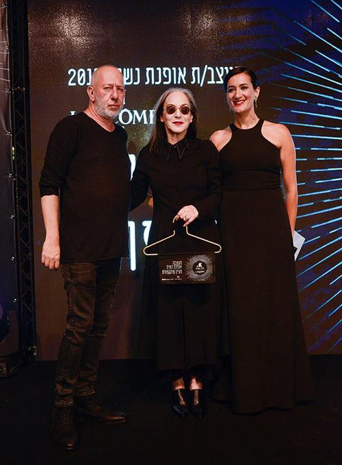 דורין פרנקפורט מקבלת את פרס מעצבת בגדי הנשים של השנה | צילום: פרדי מולי