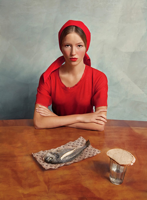 נערה עם דג של אנדרי יעקבלב ולילי אליבה | גלריה LUMAS
