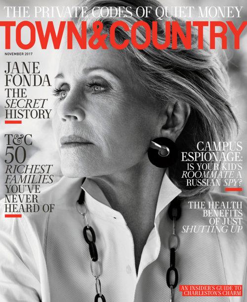 בלי טיפת פוטושופ: פונדה על שער מגזין Town & Country