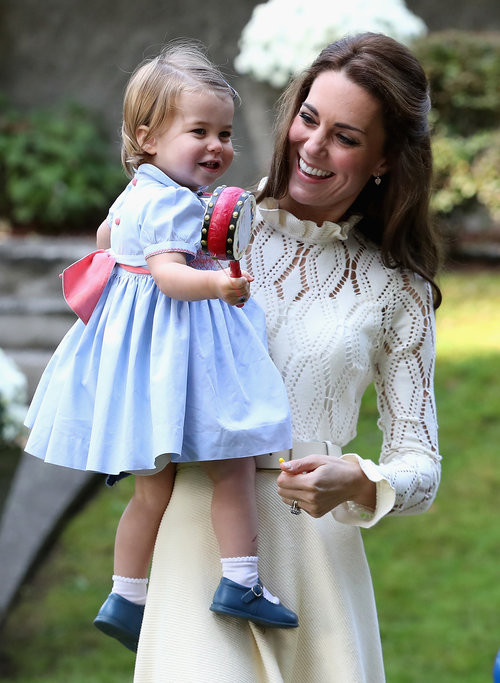 קייט מידלטון והנסיכה שרלוט | צילום: Gettyimages