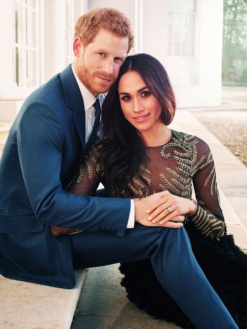 מייגן מרקל והנסיך הארי בתמונת האירוסים הרשמית | צילום: Gettyimages