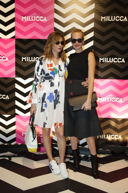גלית גוטמן ואורנה דץ בהשקת Milucca   צילום: לנס הפקות