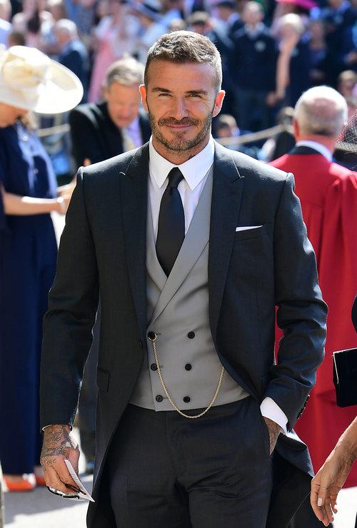 שלום גם לך: דייויד בקהאם בחתונה המלכותית | צילום: Gettyimages