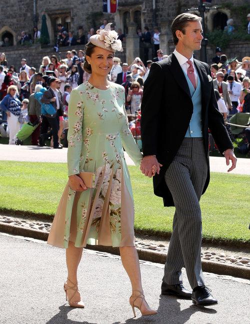פיפה מידלטון והבעל ג'יימס מתיוס בחתונה המלכותית של מייגן מרקל והנסיך הארי | צילום: Gettyimages