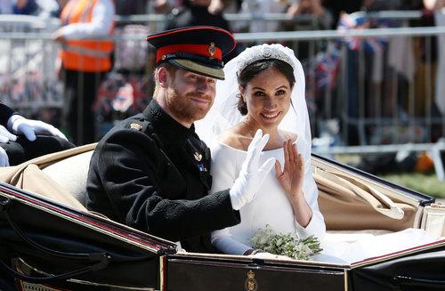 קולולולו: מייגן מרקל והנסיך הארי בחתונה המלכותית | צילום: Gettyimages