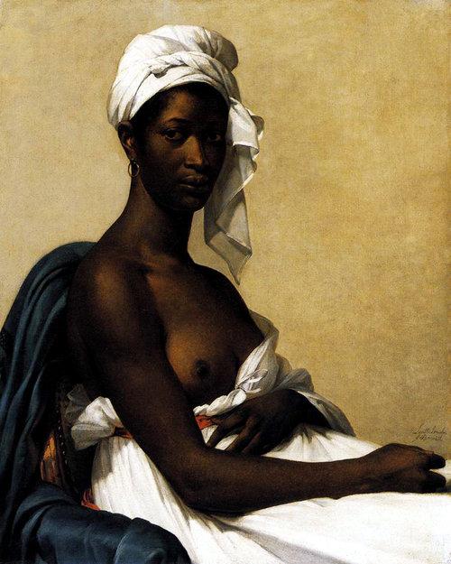 """הציור """"דיוקן של אישה שחורה"""", צויר על ידי מארי-גיימין בנואה בשנת 1800"""