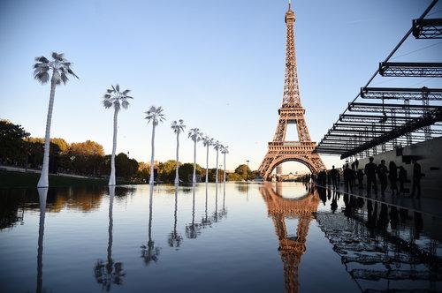 לפחות הלוקיישן היה מושלם: מתחם התצוגה של סאן לורן | צילום: Gettyimages