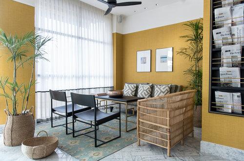 עיצוב שמתחשק להעתיק גם לסלון בבית: מלון מלודי בתל אביב   צילום: סיון אסקיו