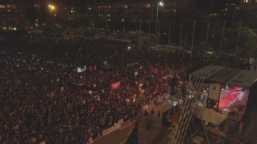 כך נראה ההמון מלמעלה, כיכר רבין תל אביב | צילום: רום ברנע