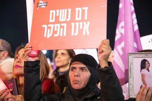 ההפגנה בכיכר רבין בתל אביב | צילום: דין אהרוני רולנד