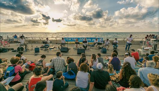 קבלת שבת בנמל תל אביב