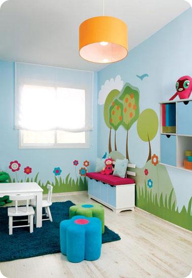 ניתן להפוך חלק מחדר הילדים למגרש שעשועים או להקצות חדר נפרד לטובת העניין